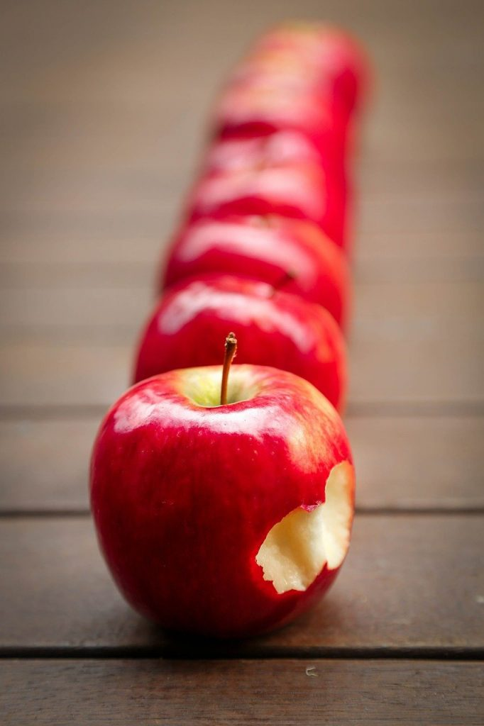 apples, fruit, red